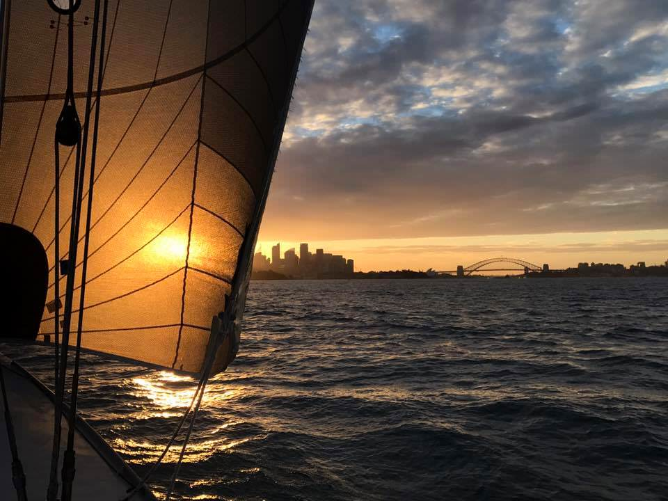 Twilight racing on Sydney Harbour